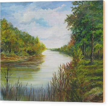 Wood Print featuring the painting Great Pee Dee River Sold by Gloria Turner