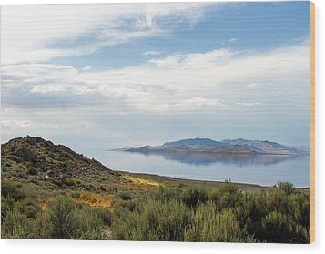 Great Salt Lake Wood Print by Menachem Ganon