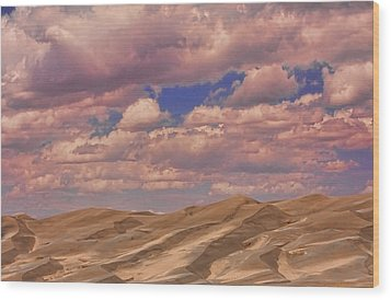 Great Sand Dunes And Great Clouds Wood Print by James BO  Insogna