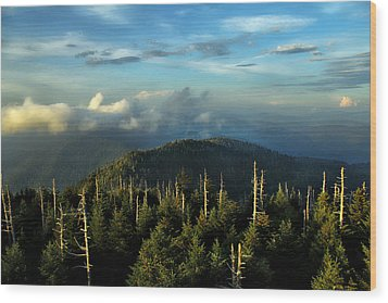 Great Smokies Wood Print