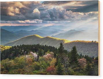 Great Smoky Mountains National Park - The Ridge Wood Print