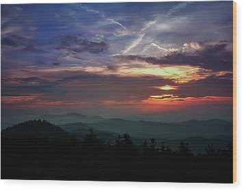 Wood Print featuring the photograph Great Smoky Sunsets by Jessica Brawley