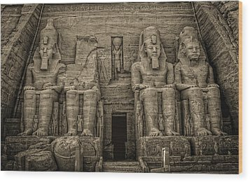 Great Temple Abu Simbel  Wood Print