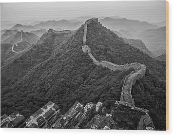 Wood Print featuring the photograph Great Wall 2, Jinshanling, 2016 by Hitendra SINKAR