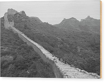 Wood Print featuring the photograph Great Wall 4, Jinshanling, 2016 by Hitendra SINKAR