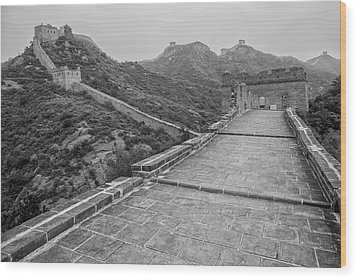Wood Print featuring the photograph Great Wall 5, Jinshanling, 2016 by Hitendra SINKAR