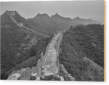 Wood Print featuring the photograph Great Wall 6, Jinshanling, 2016 by Hitendra SINKAR