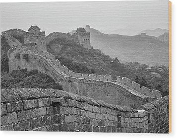 Wood Print featuring the photograph Great Wall 7, Jinshanling, 2016 by Hitendra SINKAR