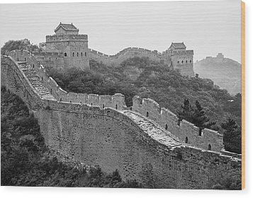 Wood Print featuring the photograph Great Wall 8, Jinshanling, 2016 by Hitendra SINKAR