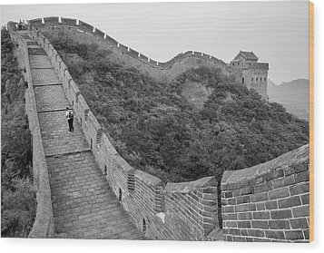 Wood Print featuring the photograph Great Wall 9, Jinshanling, 2016 by Hitendra SINKAR