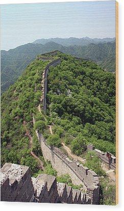 Great Wall Of China Wood Print by Natalia Wrzask