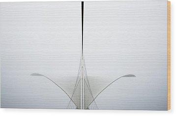 Great White Wood Print