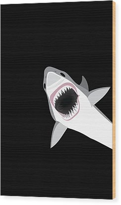 Great White Shark Wood Print by Antique Images