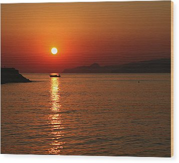 Greek Sunrise Wood Print