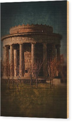 Greek Temple Monument War Memorial Wood Print by Angie Tirado