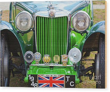 Wood Print featuring the photograph Green 1948 Mg Tc by Chris Dutton