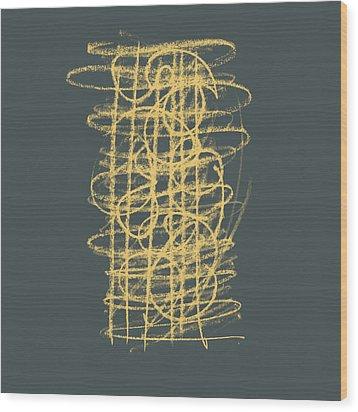 Green And Gold 1 Wood Print by Julie Niemela