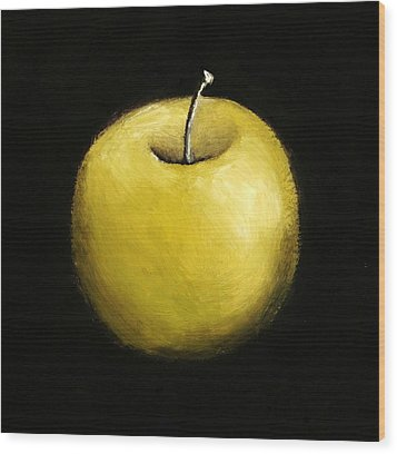 Green Apple Still Life 2.0 Wood Print by Michelle Calkins