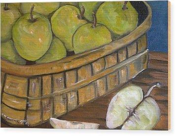 Green Apples Wood Print by Leslie Spurlock
