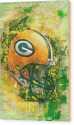 Green Bay Packers Wood Print by Jack Zulli
