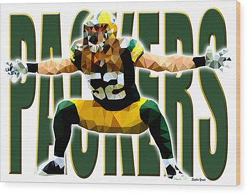 Wood Print featuring the digital art Green Bay Packers by Stephen Younts