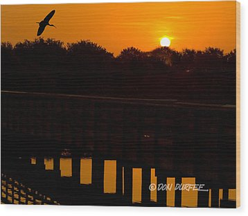 Wood Print featuring the photograph Green Cay Sunrise by Don Durfee