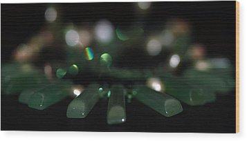Green Wood Print by Cherie Duran