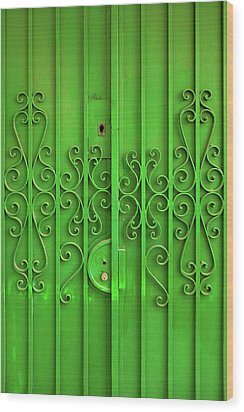 Wood Print featuring the photograph Green Door by Carlos Caetano