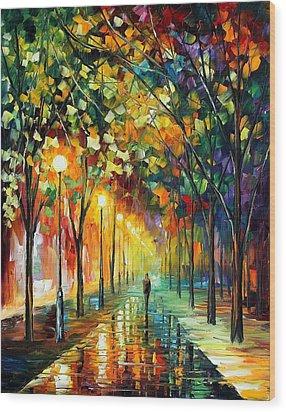 Green Dreams Wood Print by Leonid Afremov
