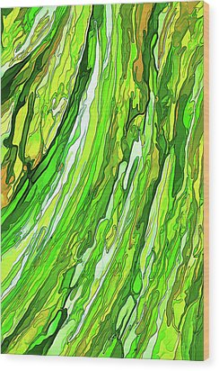 Green Garden Wood Print by ABeautifulSky Photography