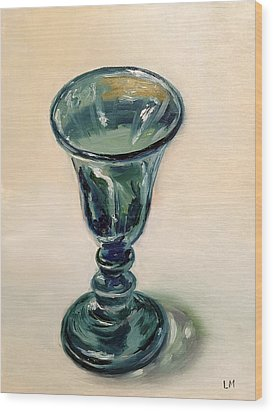 Green Glass Goblet Wood Print