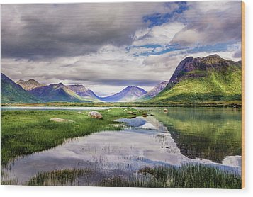 Wood Print featuring the photograph Green Hills Of Vesteralen by Dmytro Korol