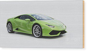 Green Huracan Wood Print by Roger Lighterness