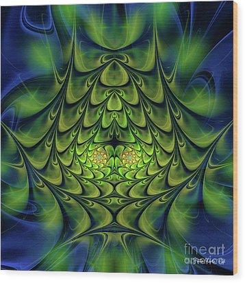 Wood Print featuring the digital art Green Island by Jutta Maria Pusl