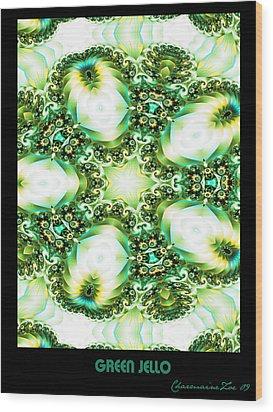 Wood Print featuring the digital art Green Jello by Charmaine Zoe