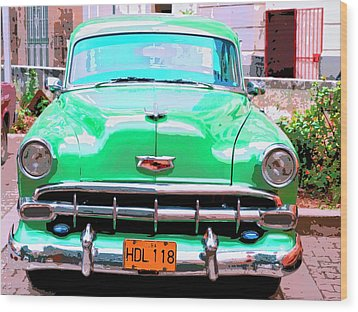 Green Machine Wood Print by Dominic Piperata
