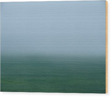 Green Mist Wonder Wood Print