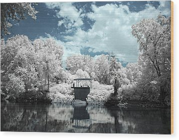 Green River Ir Wood Print by Amber Flowers