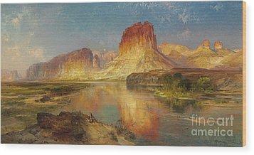 Green River Of Wyoming Wood Print by Thomas Moran