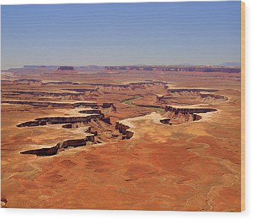 Green River Overlook Wood Print by Phil Stone
