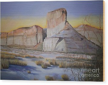 Green River Wyoming Wood Print