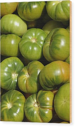 Green Tomatoes Wood Print by Frank Tschakert