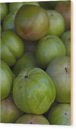 Green Tomatoes Wood Print by Robert Ullmann