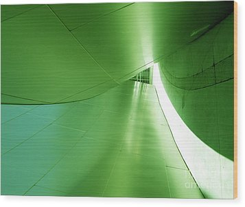 Wood Print featuring the photograph Green Tunnel. Los Angeles Series. by Ausra Huntington nee Paulauskaite