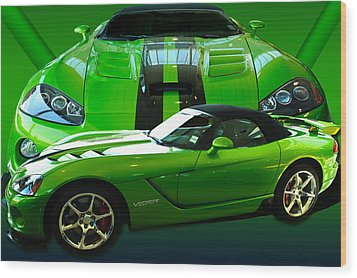Green Viper Wood Print by Jim  Hatch