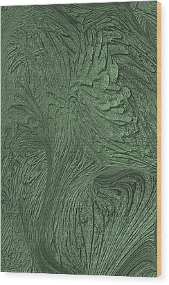 Green Wind Wood Print