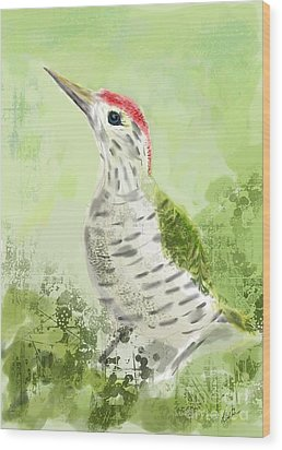 Green Woodpecker Wood Print