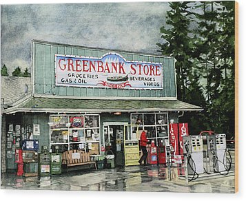 Greenbank Store Wood Print by Perry Woodfin