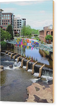 Wood Print featuring the photograph Greenville River Walk by Corinne Rhode