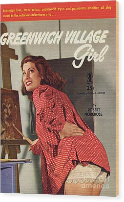 Greenwich Village Girl Wood Print by Photo Cover